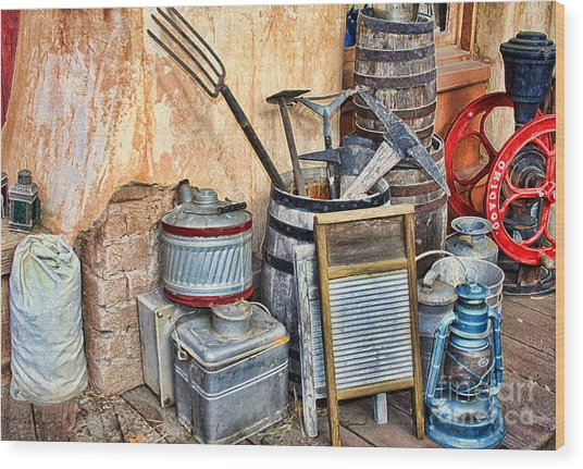 Quitting Time By Diana Sainz Wood Print