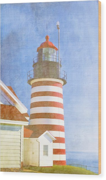 Quoddy Lighthouse Lubec Maine Wood Print