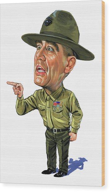 R. Lee Ermey As Gunnery Sergeant Hartman Wood Print by Art
