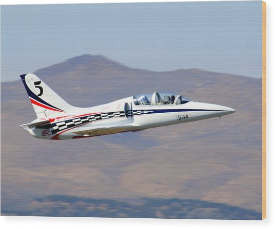 R2d2 Flies At The Reno Air Races Wood Print