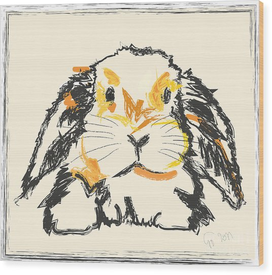 Rabbit Jon Wood Print