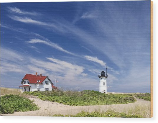 Race Point Light Wood Print