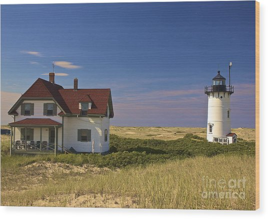 Race Point Lighthouse In Summer Wood Print