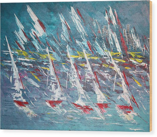Racing To The Limits - Sold Wood Print