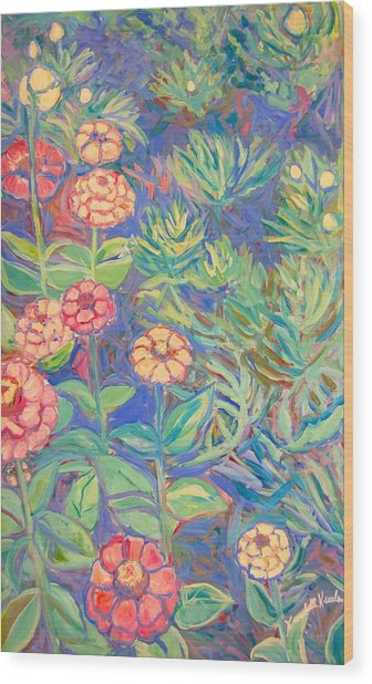 Radford Library Butterfly Garden Wood Print
