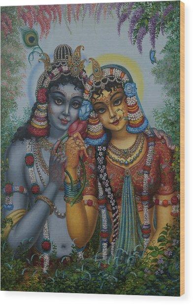 Radha Kunjabihari Wood Print