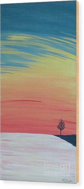 Radiance On Ice Wood Print by Melissa F Kaelin