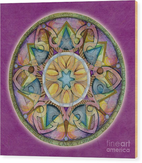 Radiant Health Mandala Wood Print