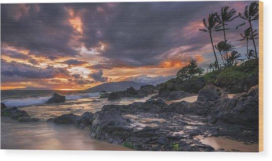 Radiant Maui Wood Print