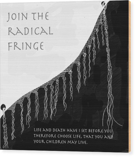 Radical Fringe Wood Print