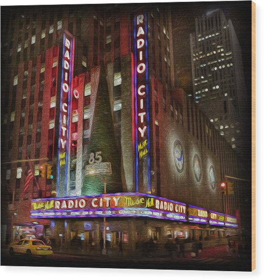 Radio City Christmas In December Wood Print by Lee Dos Santos