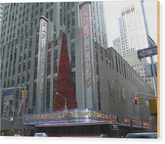 Radio City Christmas Wood Print