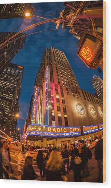Radio City Wood Print