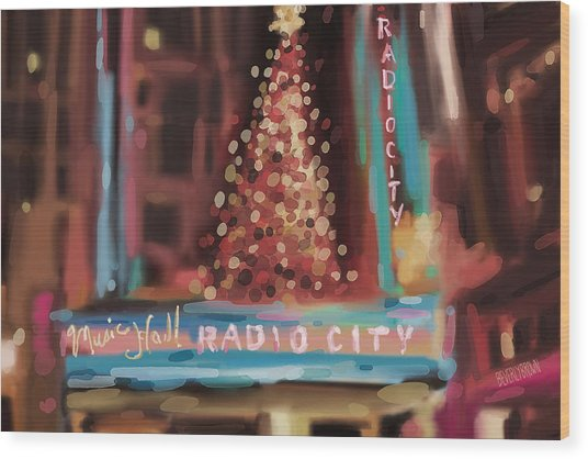 Radio City Music Hall Christmas New York City Wood Print