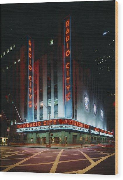 Radio City Music Hall In New York City Wood Print