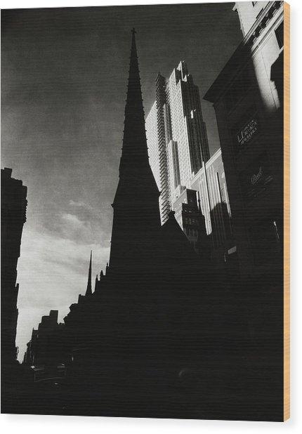 Radio City Music Hall In New York City Wood Print by Nicholas Muray