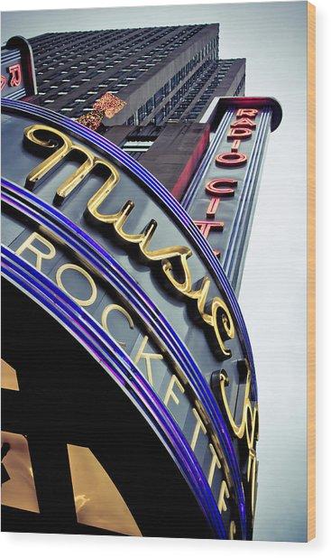 Radio City Music Hall Wood Print