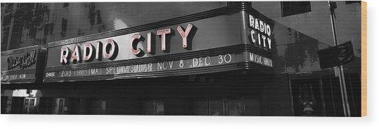 Radio City Poster Wood Print