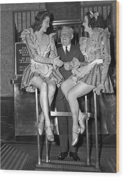 Radio City Rockettes Wood Print