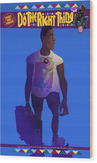Radio Raheem Wood Print