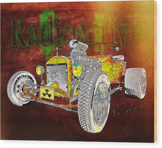 Radioactive Rod Wood Print