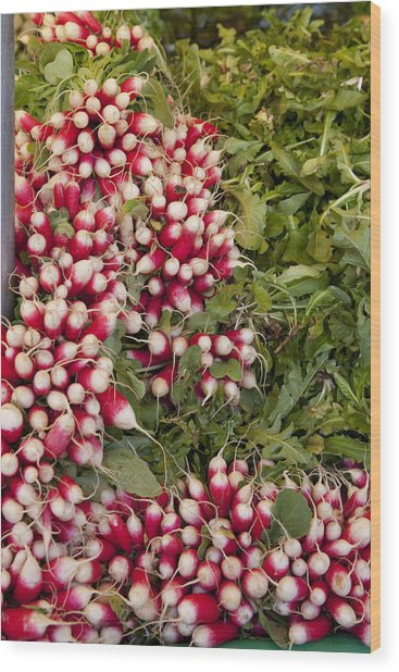 Radishes Wood Print by Art Ferrier