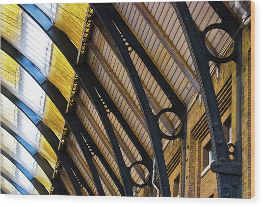Rafters At London Kings Cross Wood Print