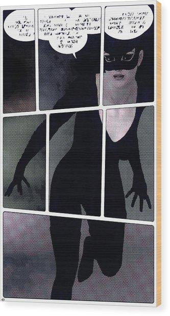 Raging Kitty Wood Print by Maynard Ellis