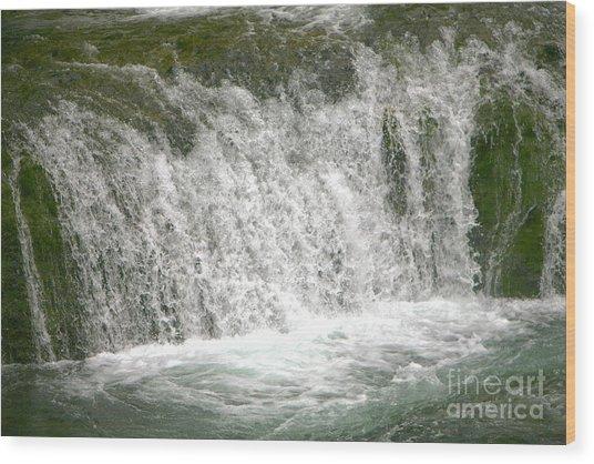 Raging Waters Wood Print