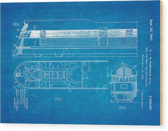 Ragsdale pioneer zephyr train patent art 1941 blueprint photograph ragsdale pioneer zephyr train patent art 1941 blueprint wood print by ian monk malvernweather Gallery