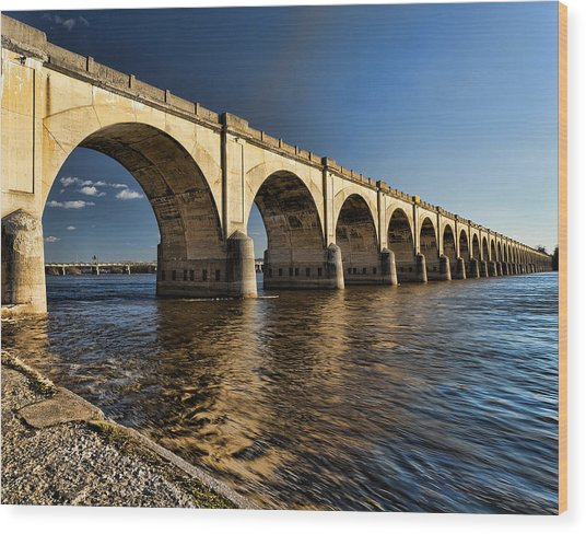 Wood Print featuring the photograph Railroad Bridge by Chris Babcock