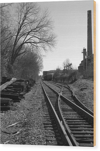 Railroad Siding Wood Print