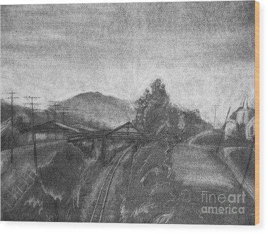 Railroad To Coal Mine. Wood Print