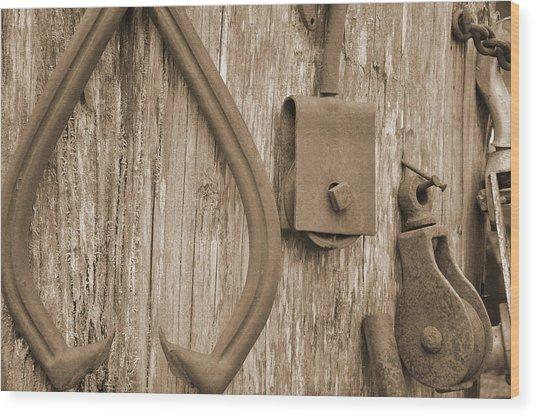 Railroad Tools  Wood Print