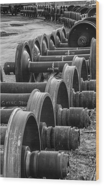 Railroad Wheels Wood Print