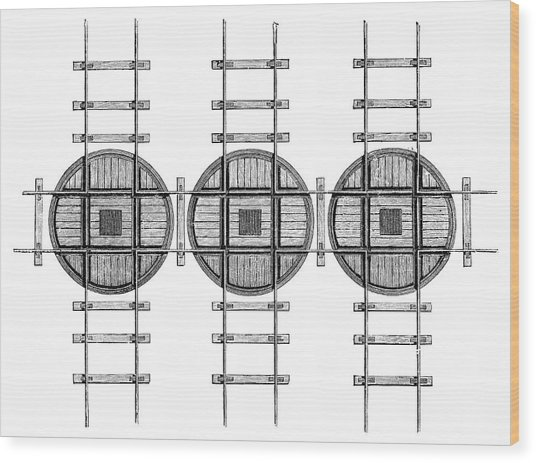 Railway Turntables Wood Print by Science Photo Library