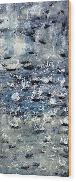 Rain On Gray's Harbor Wood Print