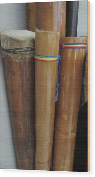 Rain Sticks Wood Print