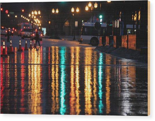 Rainbow Ave Wood Print
