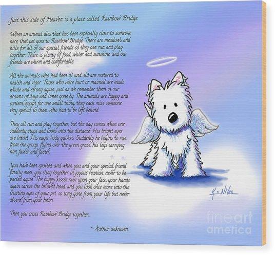 Rainbow Bridge Poem With Westie Wood Print