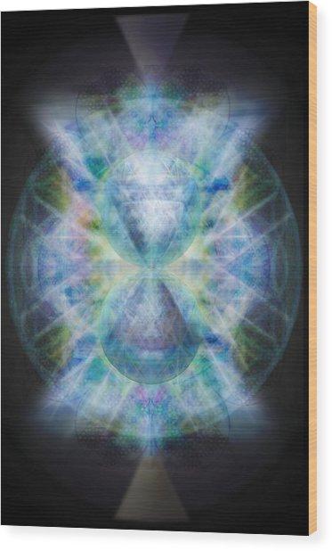 Rainbow Chalice Cell Isphere Matrix II Wood Print
