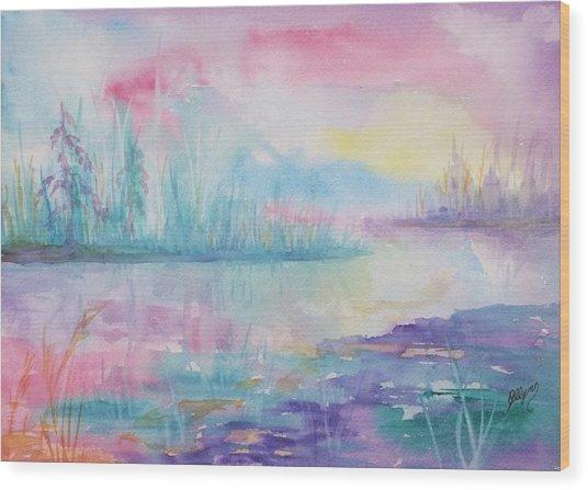 Rainbow Dawn Wood Print