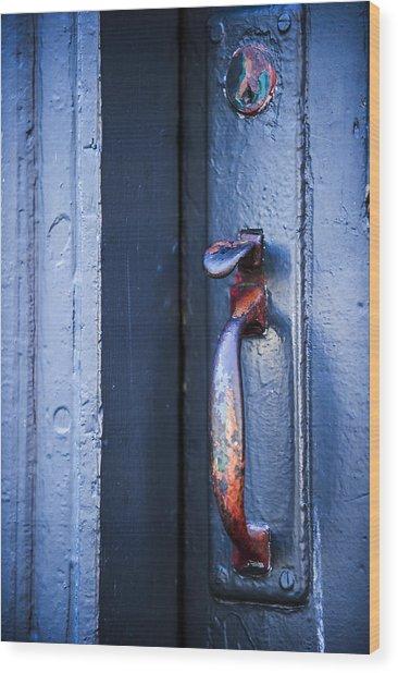 Rainbow Entry Wood Print by Sydney Mercer