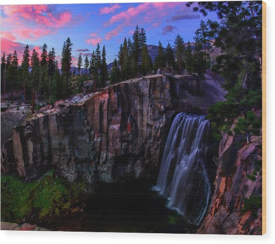 Rainbow Falls Devil's Postpile National Monument Wood Print