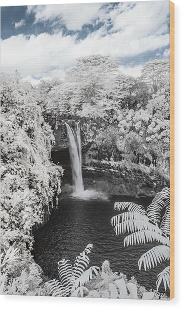 Rainbow Falls In Infrared 1 Wood Print