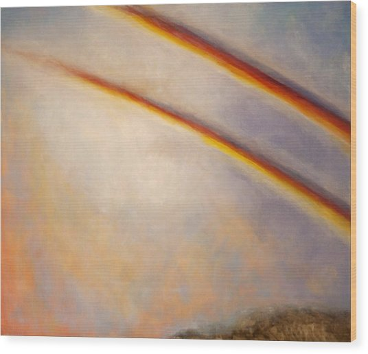 Rainbow For Grace Wood Print