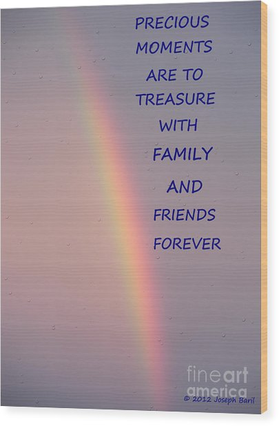 Rainbow Happiness Wood Print