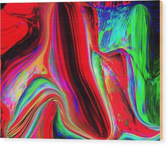Rainbow Wood Print by HollyWood Creation By linda zanini