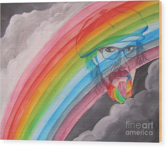 Rainbow Man Mark Hudson Wood Print