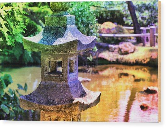 Rainbow Pagoda Wood Print